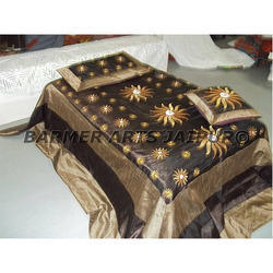 Designer Bed Sheets Zari Embroidery
