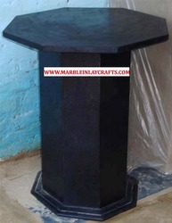 Black Marble Table Base