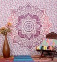 Indian Mandala Wall Hanging Ombre Tapestry Wall Decor