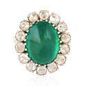 Unique 18k Gold Emerald Designer Ring Jewelry