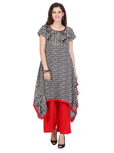 Coloured Rayon Printed Kurti