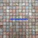 Slate Copper Square Pattern Natural Toptumbled 36 Pcs On Mes