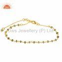 Peridot Gemstone Silver Bracelet