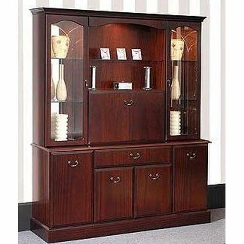 Wooden Crockery Almirah At Rs 42000 /piece