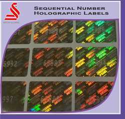 Sequntial Number Hologram Void Labels