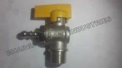 Brass Gas Angle Type Valve Yellow Handle