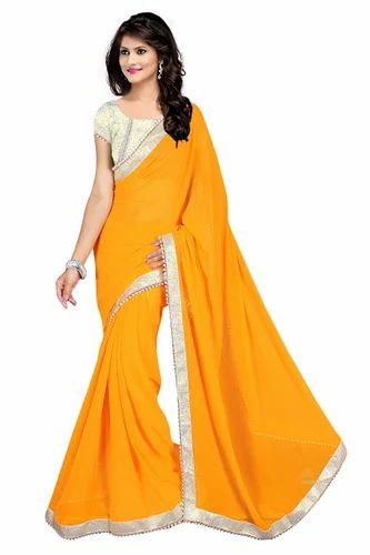 Plain Daily Wear Saree