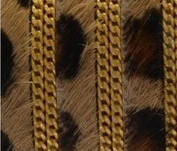 Hairy Leather Cords With Chain