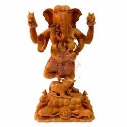 Religious Wooden Ganpati Statue