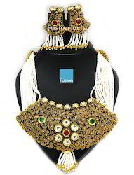Antique Traditional Polki Necklace Set
