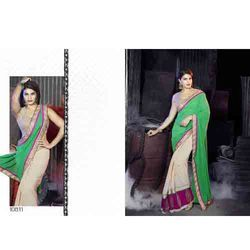 chikan embroidered saree