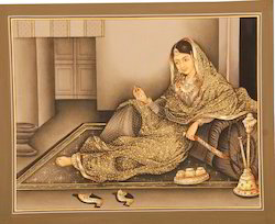 Mughal Lady Portrait Painting