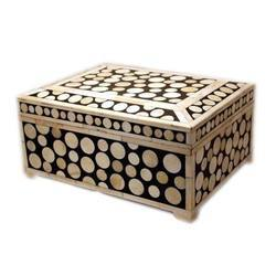 Camel Bone Inlaid Cash Box
