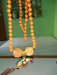 Rudraksha Mala With Navratan Locket