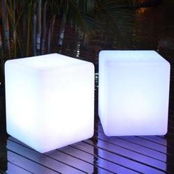 Casino LED Cube Light Stool