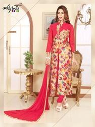 Heavy Embroidered Straight Suit