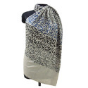 Merino Wool Allover Curve Calligraphy Embroidery Scarves
