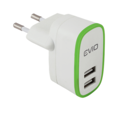 EViO Quick Charge 2 Port USB Wall Charger