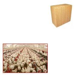 Evaporative Cooling Pad for Poultry