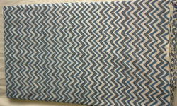 Blue Chevron Block Printed Fabric
