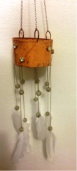 Copper Enamelled Wind Chimes/ Lanterns