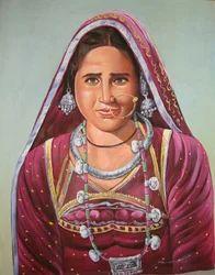 Rajasthani Lady Paintings