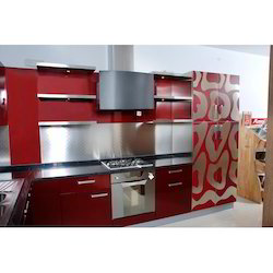 Stainless Steel L Shaped Modular Kitchen