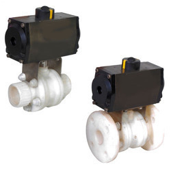 Pneumatic Rotary Actuator Operated PP / UPVC / CPVC Valves