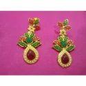 Green & Red Designer Earrings