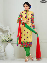 fancy cotton churidar dress material