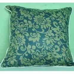 printed cushions on slub fabric
