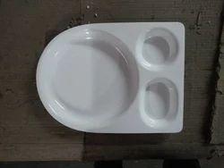 Acrylic Chole Bature Plate