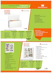 White Westinghouse Chest Freezers