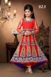 Kids Red Stone Suits For Girls