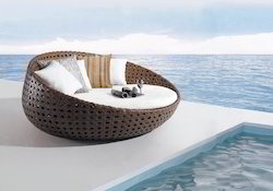Wicker Sun Bed
