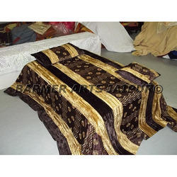 Designer Bed Cover Silk Velvet Embroidery