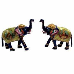 Meenakari Elephant With Mughal Painting
