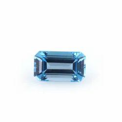 Swiss Blue Topaz Semi Precious Stone Octogon