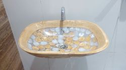 Rectangle Golden Ring Washbasin