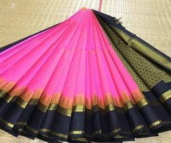 Kuppadam Korvai Temple Border Silk Cotton Sarees