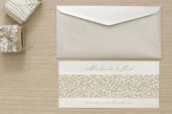 Pebble Embossed Custom Printed Wedding Cards