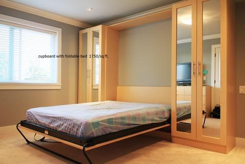 Foldable Wall Bed Foldable Bed With Wardrobe