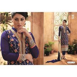 Navy Blue Embroidered Salwar Kameez