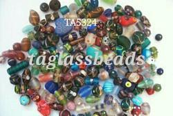 Mix Fancy Frosted Glass Beads