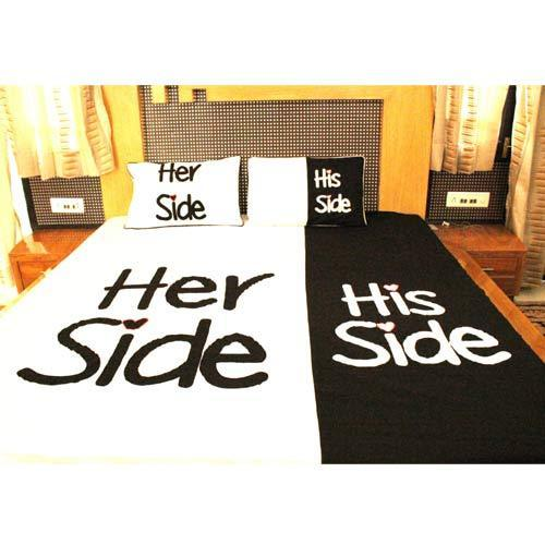 His Side Her Side Bombay Dyeing Fabric