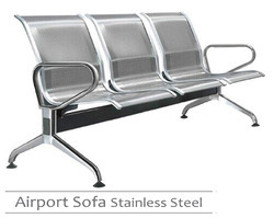 Stainless Steel - Three Seater Chair