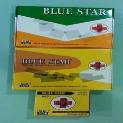 Blue Star Glass Slide
