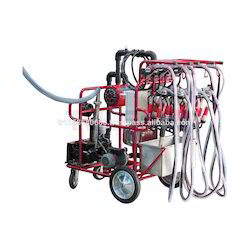 Mobile Milking Parlour System With 4 Claws Auto Wash