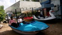 FRP Paddle Boat With Roof