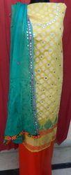 Aaditri Dress Material Banarsi Silk Suit